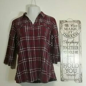 Woman's Cato maroon blouse size xl